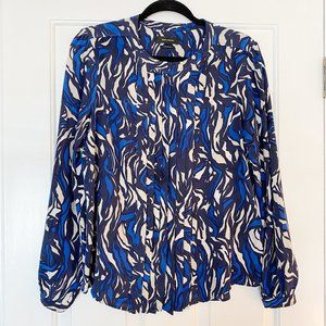 Isabel Marant Silk Blue and White Button Up Blouse